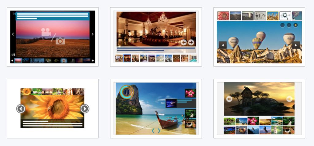 Responsive image galleries templates.